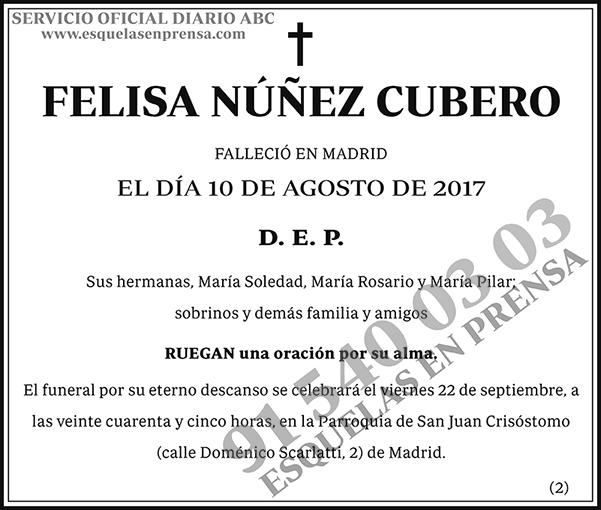 Felisa Núñez Cubero